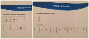 Esempi di phoneme frames