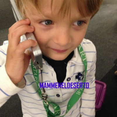 Riccardo con il telecomando che parla!