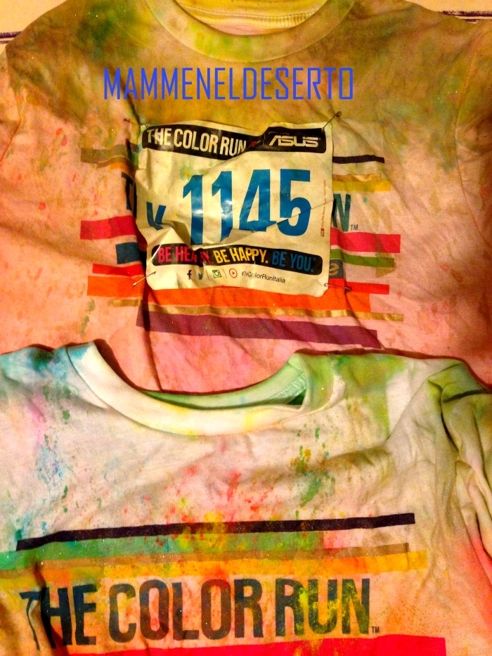 t-shirt the color run colorate