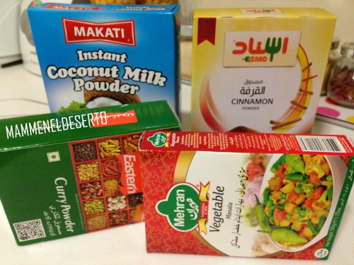 spezie e latte di cocco