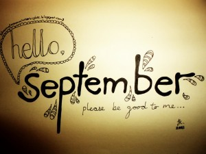 September: my to do list