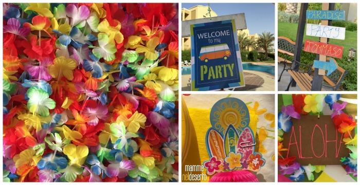 Festa hawaiana mamme nel deserto for Idee party in piscina