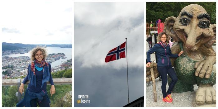 Parte alta della città di Bergen