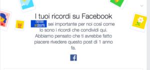 I ricordi di facebook